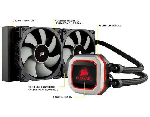 Corsair Wasserkühlung H100i PRO RGB 240mm